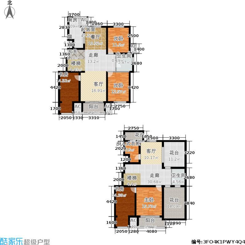浅山香邑224.00㎡D1上跃边户型5室3厅
