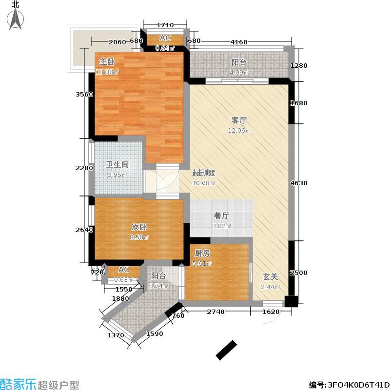 融锦城76.14㎡一期4号楼B3户型