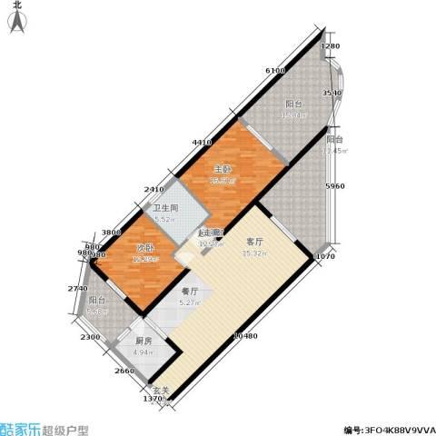 中州国际酒店2室0厅1卫1厨121.00㎡户型图