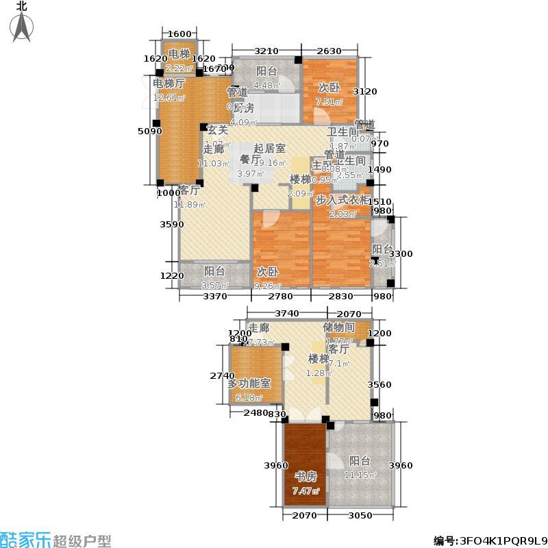 西郊半岛名苑152.00㎡三居户型3室2厅