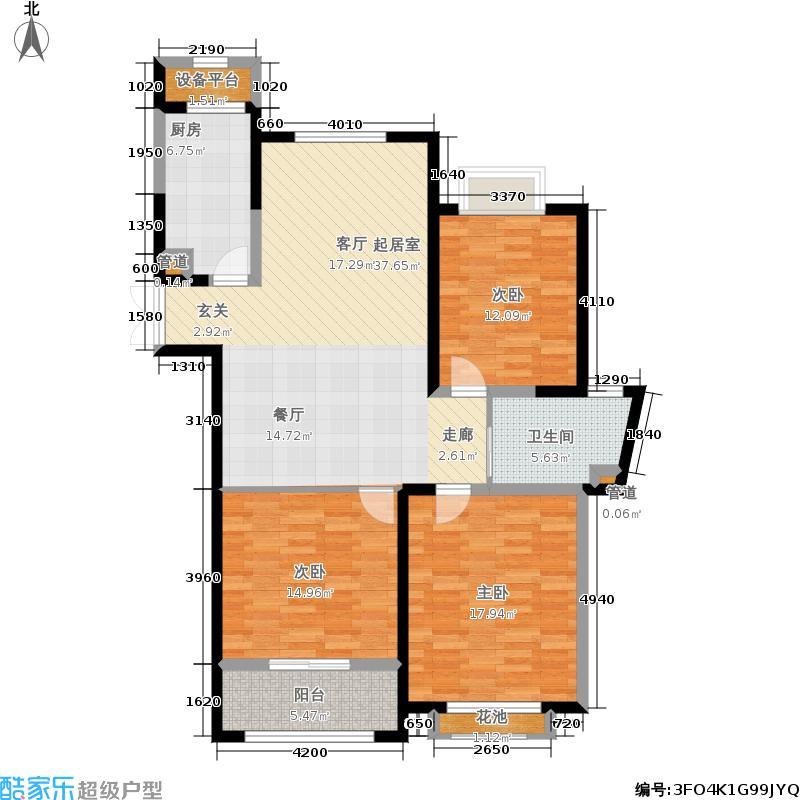 中南世纪花城116.00㎡23#楼B30户型