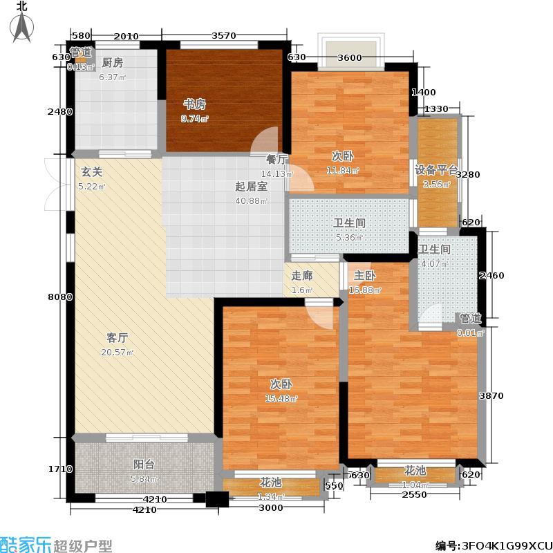 中南世纪花城137.00㎡19#楼A7户型