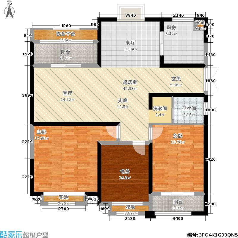 中南世纪花城125.00㎡19#楼B50户型