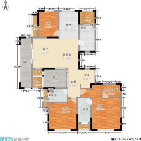 紫元阳光水榭3室0厅2卫1厨178.00㎡户型图