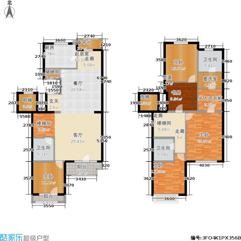 金隅翡丽(金隅翡丽·蓝爵堡)226.00㎡三期D2户型4室3厅