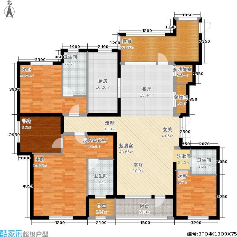 奥园国际城190.89㎡奥园·国际城郎香E1精装大平层户型4室2厅
