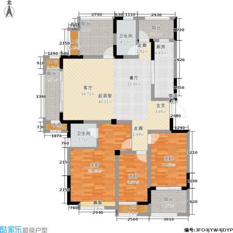 紫元阳光水榭3室0厅2卫1厨139.00㎡户型图
