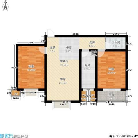 滨河雅园2室1厅1卫1厨106.00㎡户型图