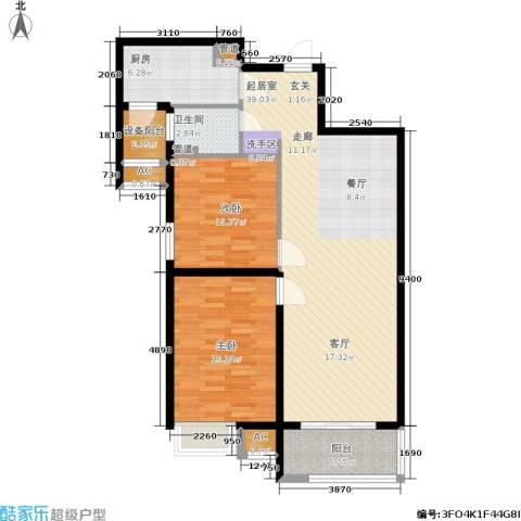 江阴万达广场2室0厅1卫1厨96.00㎡户型图