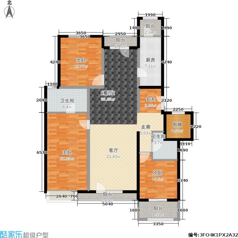 金隅翡丽(金隅翡丽·蓝爵堡)152.00㎡三期C4户型3室2厅