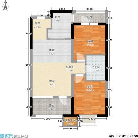 奥园国际城2室0厅1卫1厨82.00㎡户型图