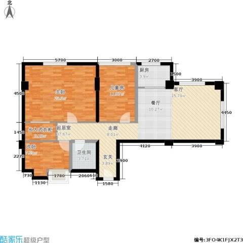 奥园国际城3室0厅1卫1厨106.00㎡户型图