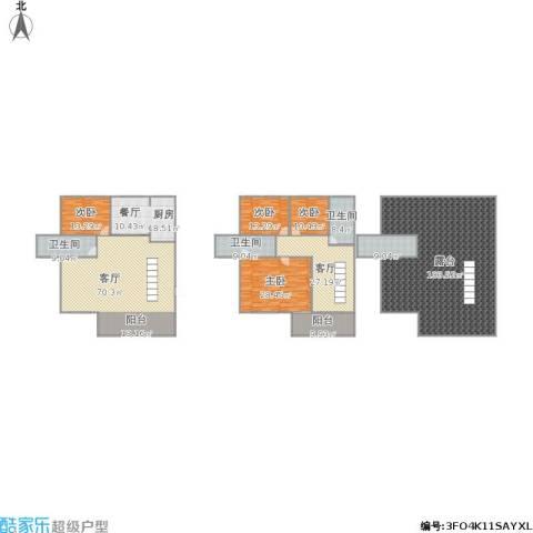 湖滨公寓4室2厅3卫1厨433.00㎡户型图
