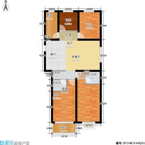 榕城世家4室1厅2卫1厨136.00㎡户型图