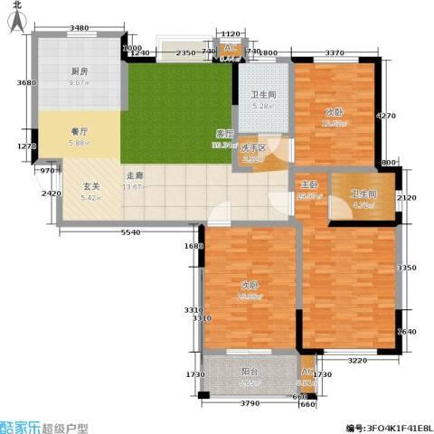 水岸豪庭东苑3室0厅2卫1厨169.00㎡户型图