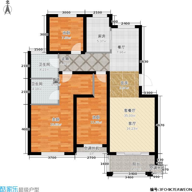 人和国际花园多层D10栋(01、02)户型4室2厅2卫
