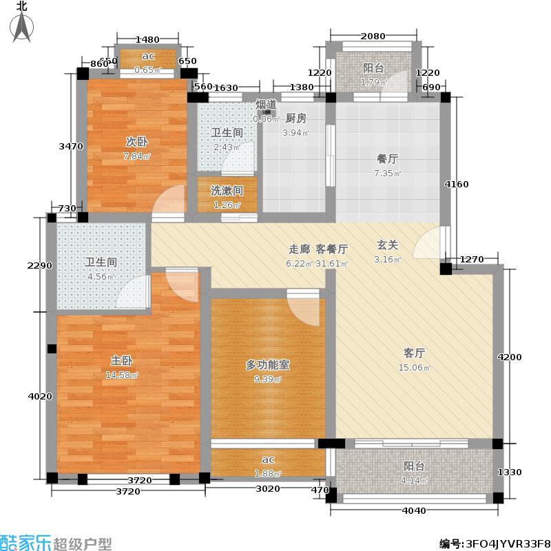 御庭水岸99.10㎡二期多层12、13面积9910m户型