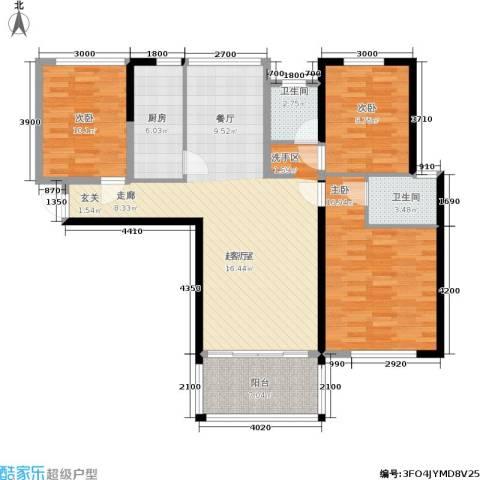 隆源国际城3室0厅2卫1厨106.00㎡户型图