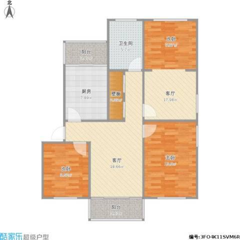 童家巷小区2室2厅1卫1厨111.00㎡户型图