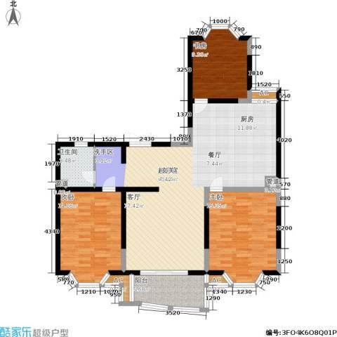 合肥古井丰水源3室0厅1卫0厨110.00㎡户型图