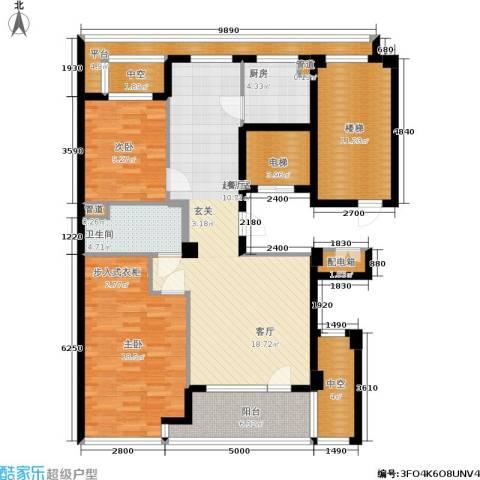 绿城百合花园2室0厅1卫1厨103.07㎡户型图