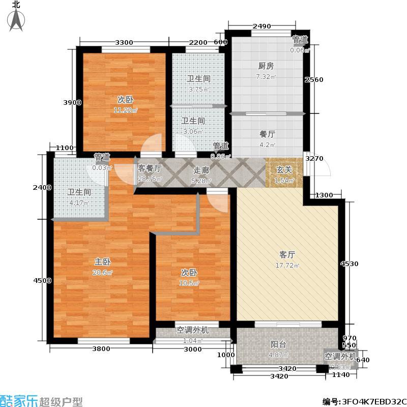 人和国际花园多层D9栋(01、02)户型4室2厅2卫