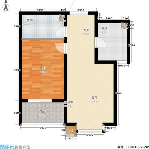 华瑞科技苑1室0厅1卫1厨66.00㎡户型图