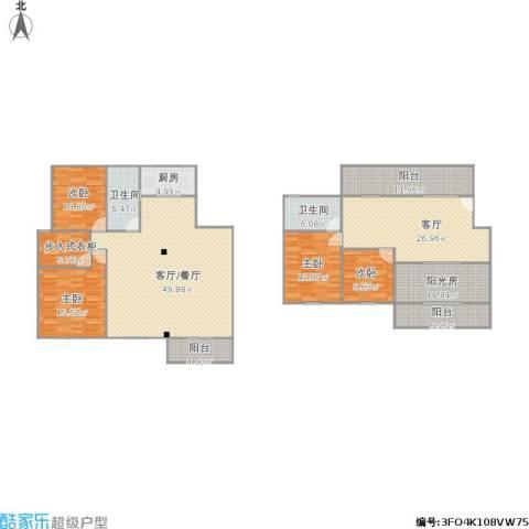 251502香城花园二期4室1厅2卫1厨243.00㎡户型图