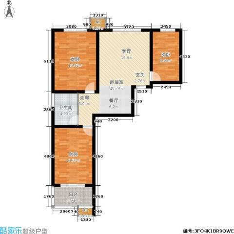 华瑞科技苑3室0厅1卫0厨92.00㎡户型图