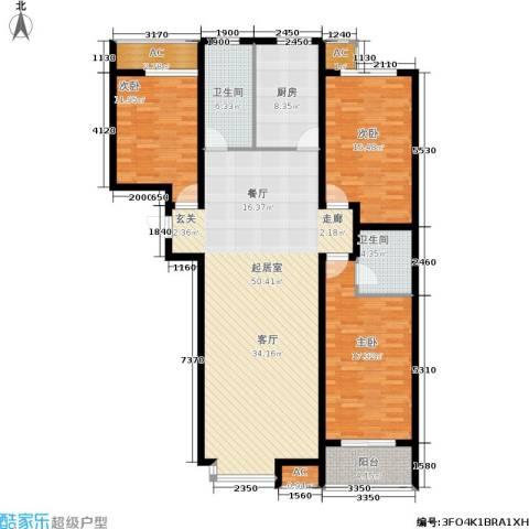 华瑞科技苑3室0厅2卫1厨139.00㎡户型图