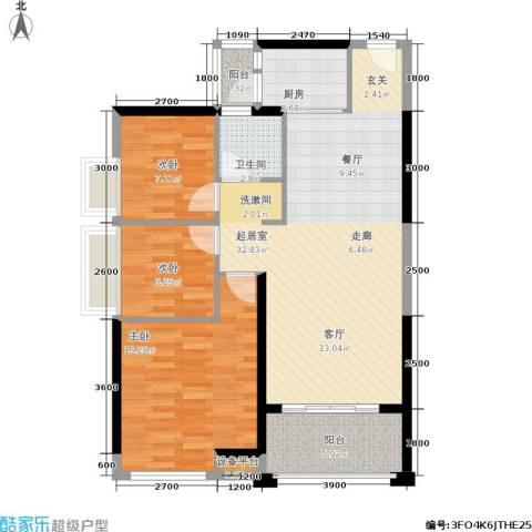 盛合公园壹号3室0厅1卫1厨107.00㎡户型图