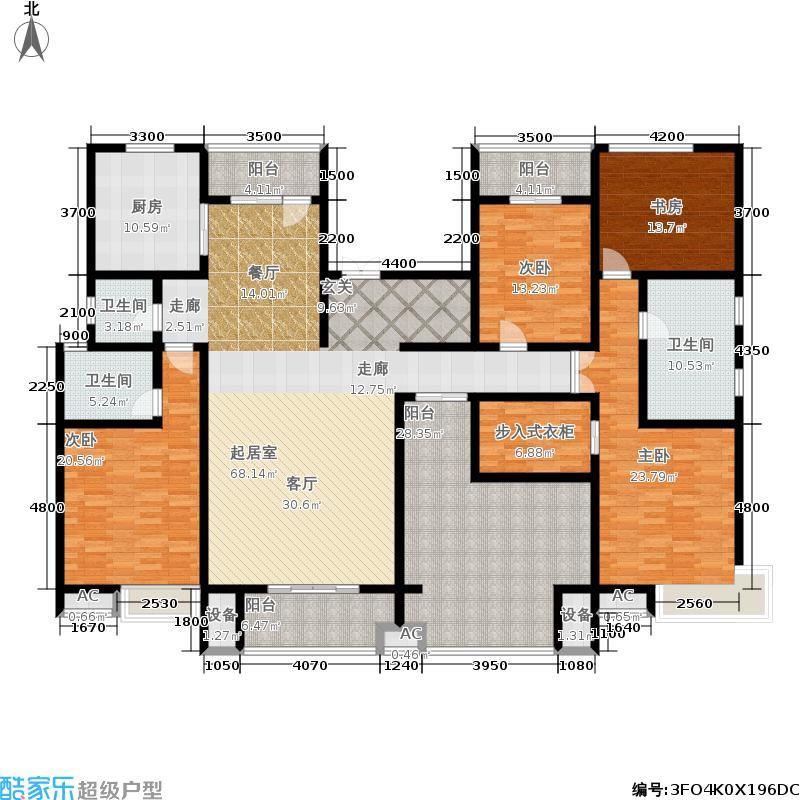 冠昌金域湾畔13#楼-叠墅-E2-大平层户型