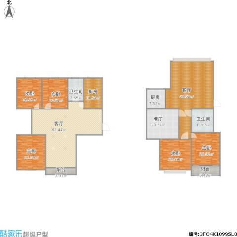 假日丽景5室3厅2卫2厨369.00㎡户型图