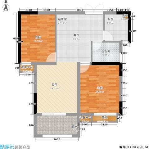 富地中心2室0厅1卫1厨95.00㎡户型图