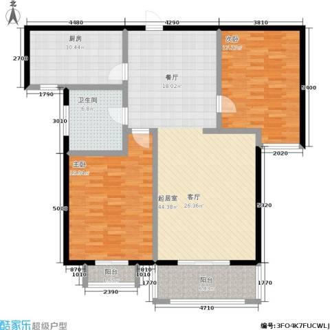 汇博丽景豪庭2室0厅1卫1厨118.00㎡户型图