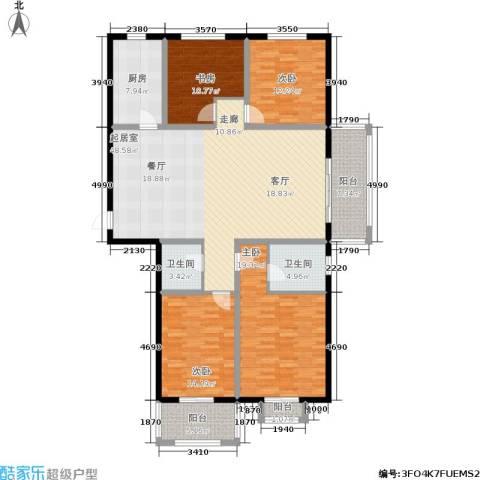 汇博丽景豪庭4室0厅2卫1厨151.00㎡户型图