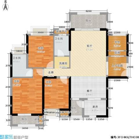 盛合公园壹号3室0厅2卫1厨150.00㎡户型图