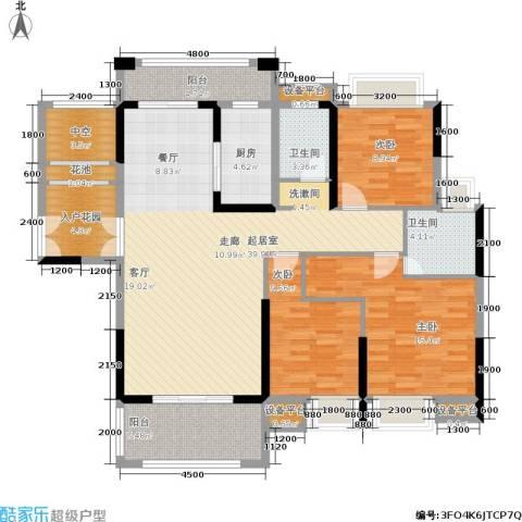 盛合公园壹号3室0厅2卫1厨158.00㎡户型图