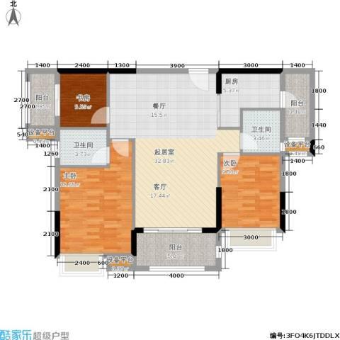 盛合公园壹号3室0厅2卫1厨127.00㎡户型图