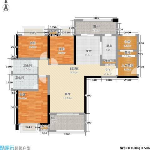 盛合公园壹号3室0厅2卫1厨154.00㎡户型图