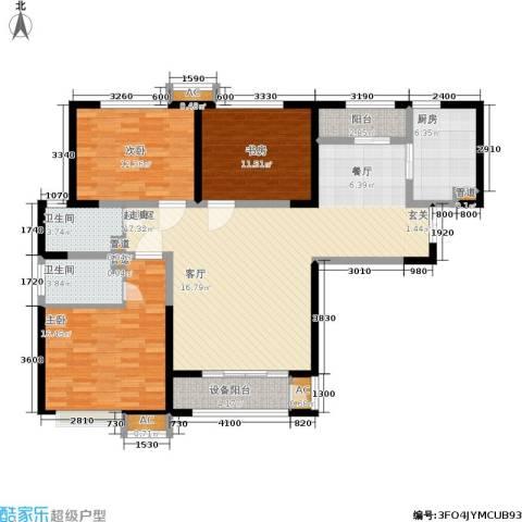 辰宇世纪城3室0厅2卫1厨120.00㎡户型图