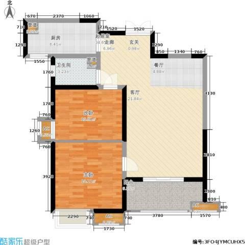 辰宇世纪城2室0厅1卫1厨90.00㎡户型图