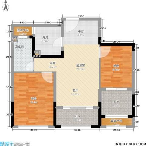 金象泰吉祥家园2室0厅1卫1厨89.00㎡户型图