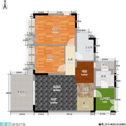 上河鹂岛2室0厅1卫1厨108.00㎡户型图