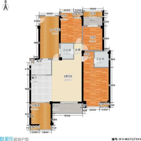 玉柴博望园3室0厅2卫1厨139.47㎡户型图