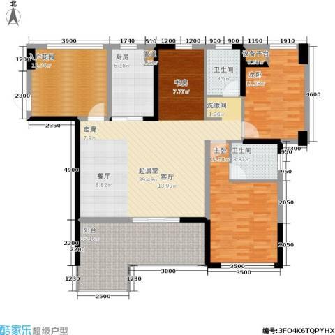 玉柴博望园2室0厅2卫1厨135.00㎡户型图