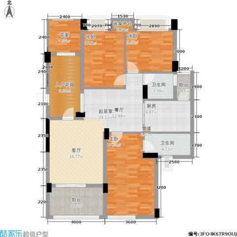 玉柴博望园3室0厅2卫1厨122.00㎡户型图