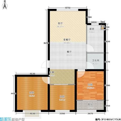 榕城世家3室1厅1卫1厨105.00㎡户型图