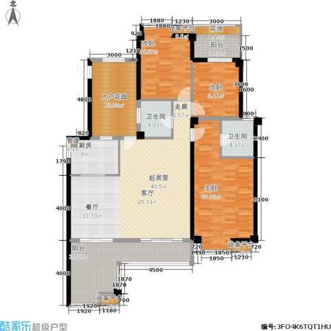 玉柴博望园3室0厅2卫1厨140.00㎡户型图
