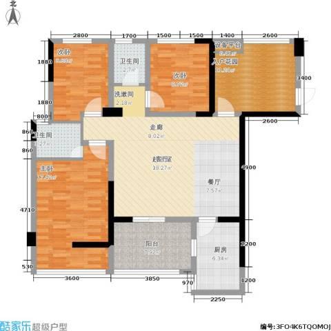 玉柴博望园3室0厅2卫1厨129.00㎡户型图